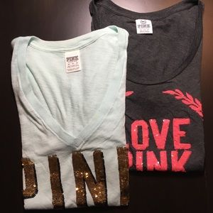 Set of 2 pink by Victoria Secret women's T-shirt